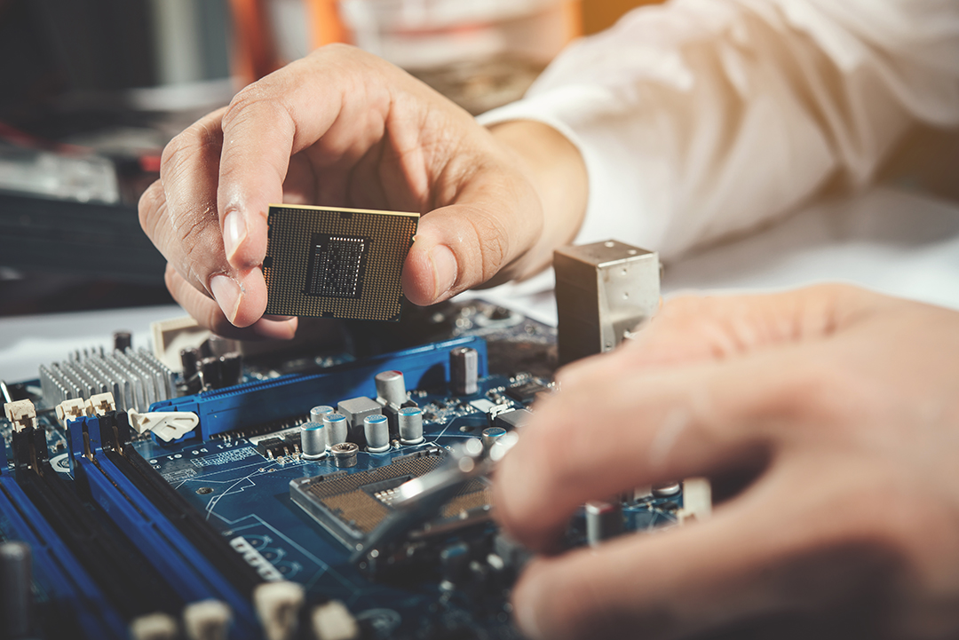The technician repairing the computer,computer hardware, repairi